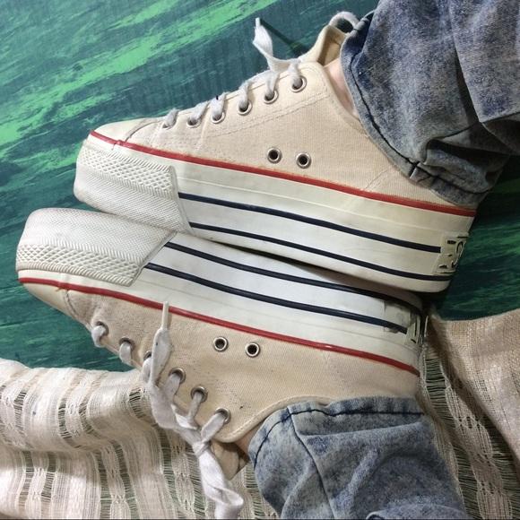 Vintage Esprit Platform Athletic Shoes